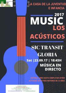 Los acústicos. Sic Transit Gloria @ Casa de la Juventud e Infancia de Boadilla | Boadilla del Monte | España