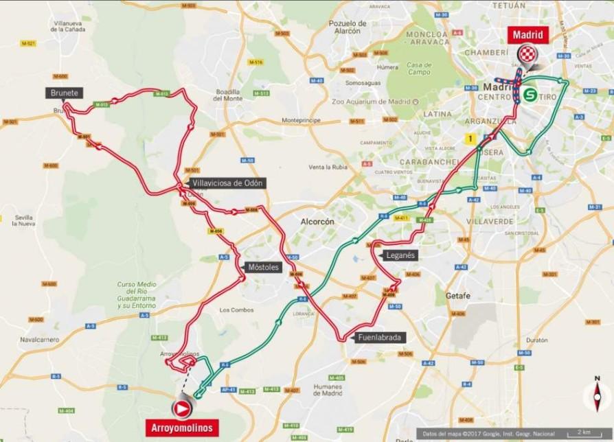 Recorrido de la última etapa de la Vuelta a España 2017