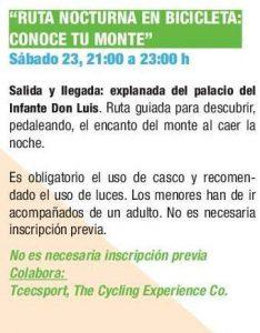 Ruta Nocturna en bicicleta: Conoce tu monte @ Explanada del Palacio Infante Don Luis de Boadilla | Boadilla del Monte | Comunidad de Madrid | España