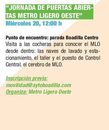 Semana de la movilidad 2017. Puertas abiertas Metro Ligero