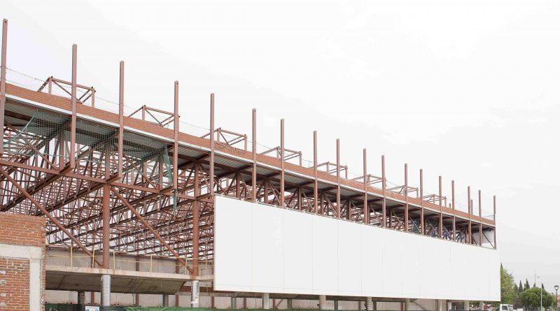 Cerramiento en obras del Complejo Deportivo Condesa de Chinchón