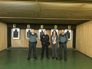 Practicas de tiro de la Policía