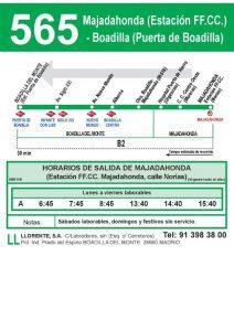 Autobús Boadilla - Cercanías Majadahonda
