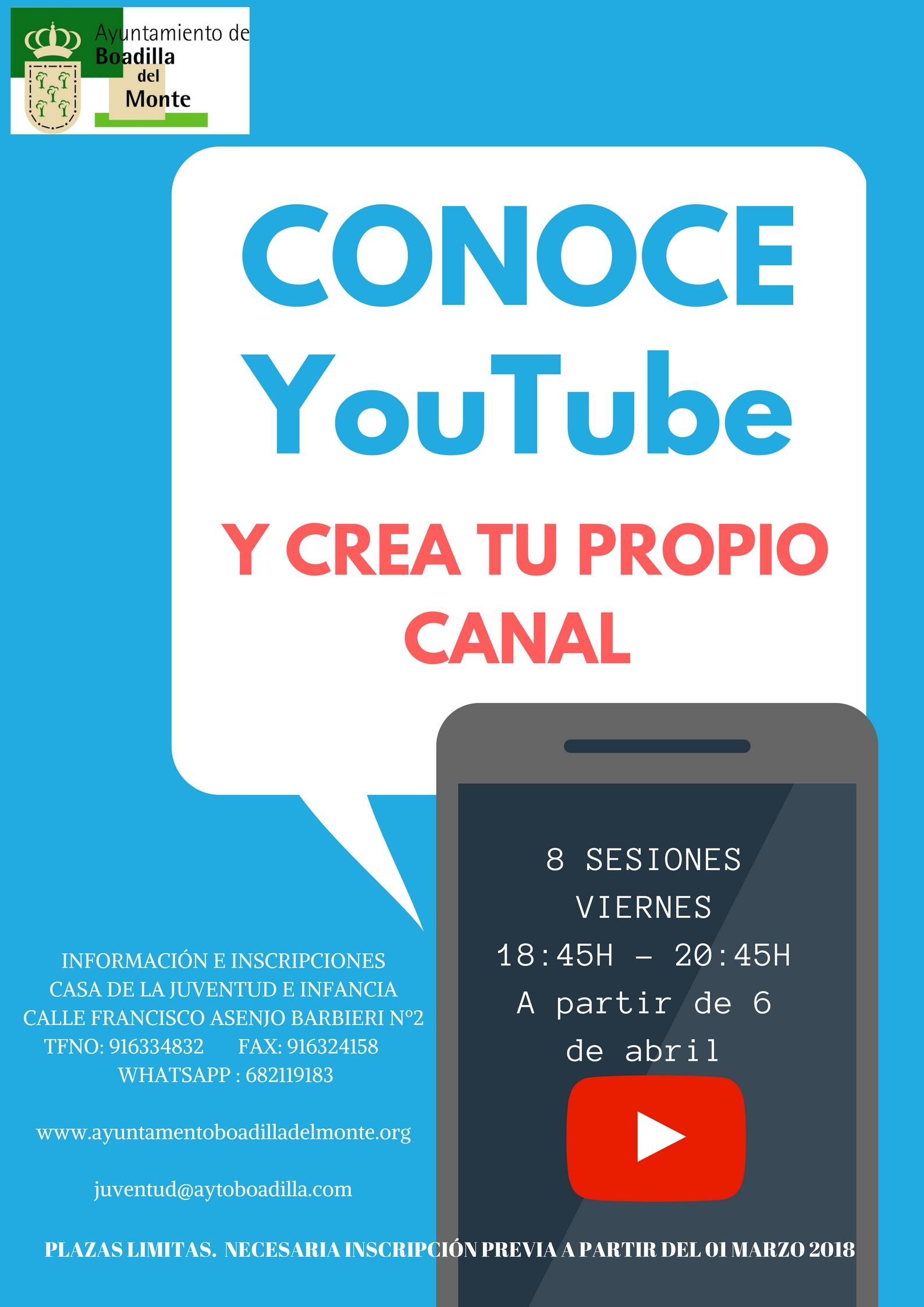 Curso de youtube en Boadilla