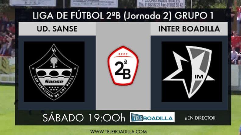 Sanse vs Inter Boadilla. 2ª jornada grupo I Segunda División B fútbol.