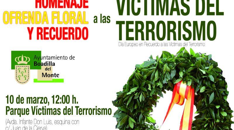 Homenaje a las víctimas del terrorismo en Boadilla