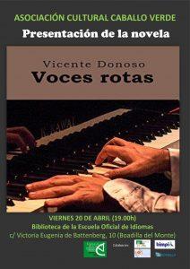 Voces rotas, presentacion @ Biblioteca de la Escuela Oficial de Idiomas | Boadilla del Monte | Comunidad de Madrid | España