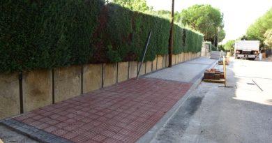 Asfaltado y acerado de urbanziaciones históricas de Boadilla en 2019