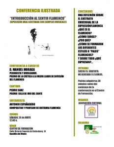 Introducción al sentir flamenco @ Centro de Formación | Boadilla del Monte | Comunidad de Madrid | España