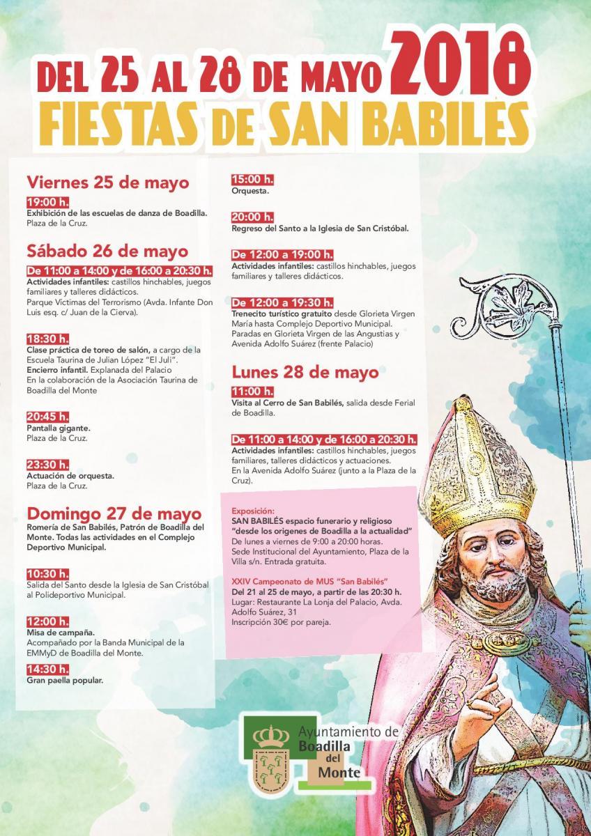 Programa Fiestas de San Babilés Boadilla del Monte 2018