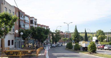 Avanzan las obras de remodelación en la carretera de Majadahonda