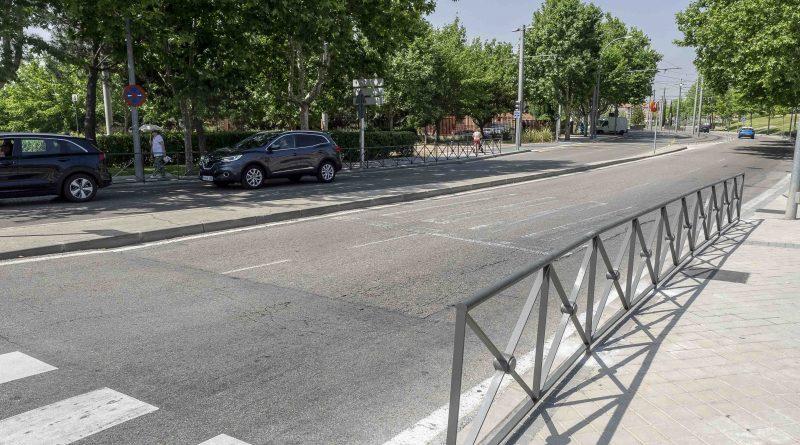 Vallado para proteger peatones