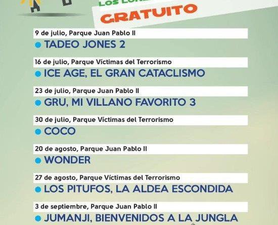 Cine de verano 2018 en Boadilla del Monte