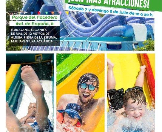Fiesta acuática con Tobogán en Boadilla julio 2018