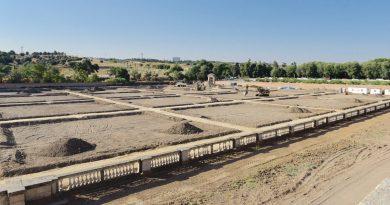 Obras de las antiguas huertas del Palacio