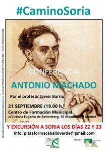 Conferencia sobre Antonio Machado @ Centro de Formación de Boadilla del Monte | Boadilla del Monte | Comunidad de Madrid | España