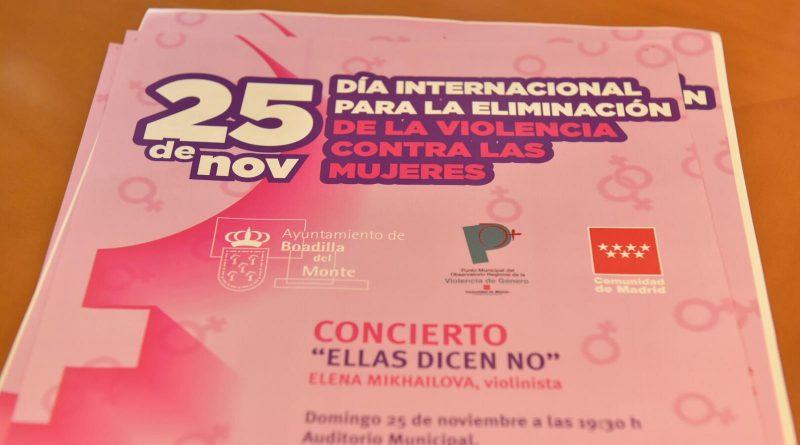 Boadilla celebrará el Día contra la Violencia de Género con actividades culturales protagonizadas por mujeres