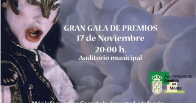Gala entrega premios Festival Cortometrajes Boadilla del Monte 2018