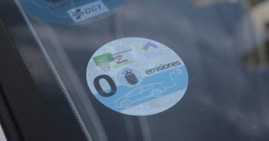 Pegatina del ayuntamiento de Boadilla cero emisiones para aparcar en la zona azul