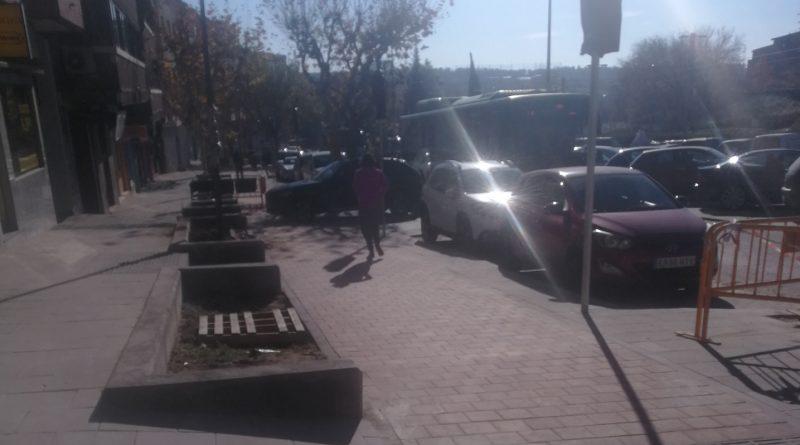 Menos plazas de aparcamiento en la Ctra. de Majadahonda