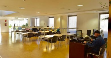 Biblioteca provisional en la Sede Institucional