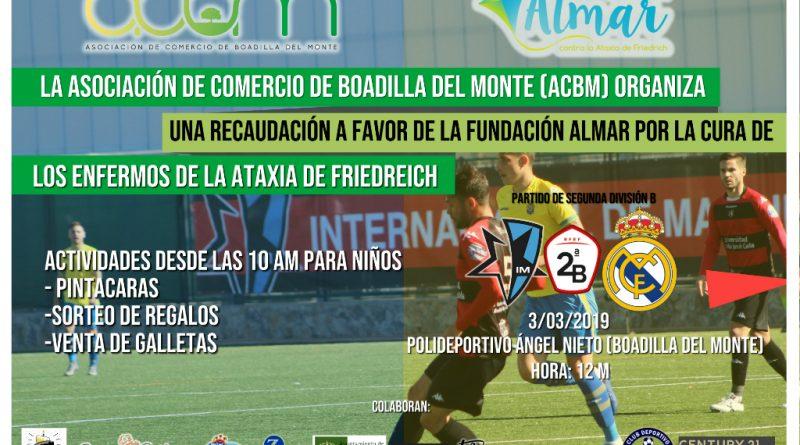 INternacional de Madrid Boadilla vs Real Madrid Castilla. Actividades en favor de la fundación ALMAR