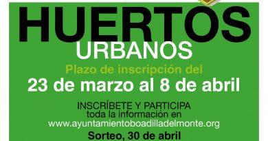 Mañana se abre el plazo de inscripción para la adjudicación de los huertos urbanos