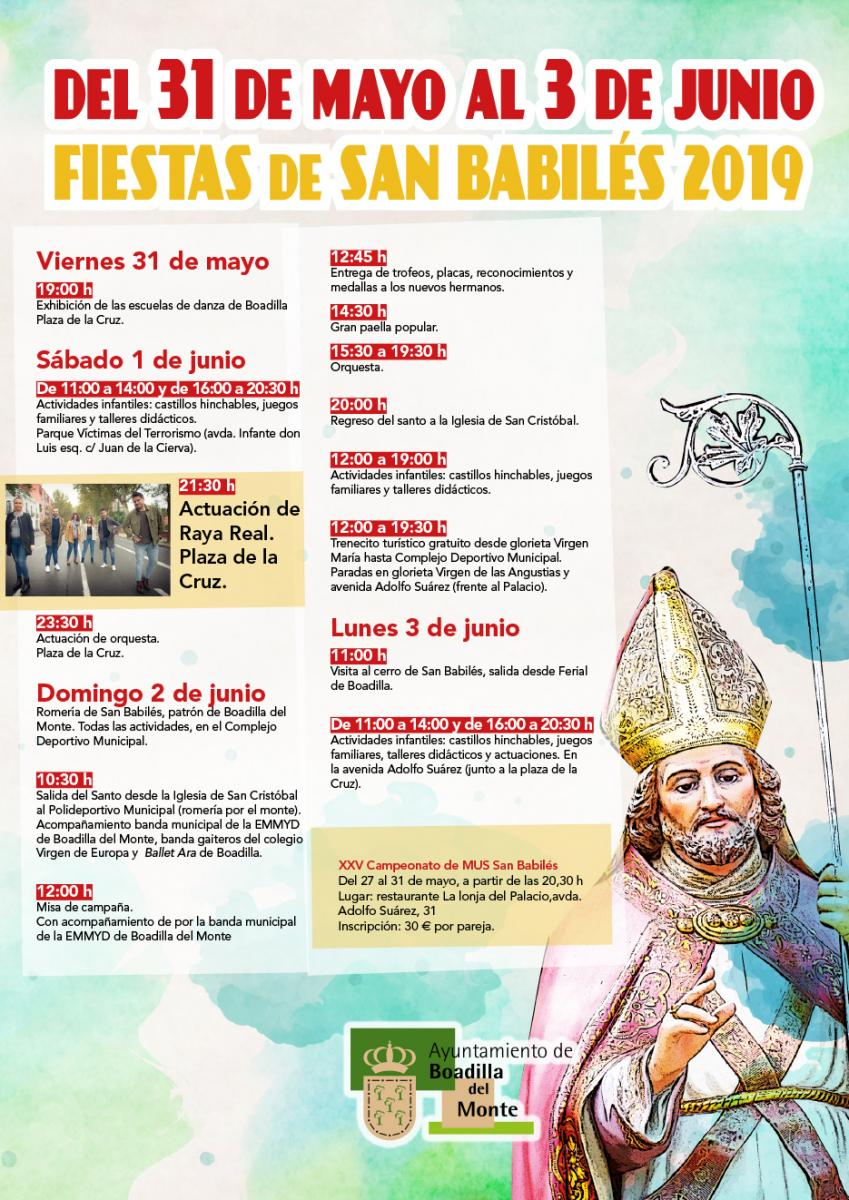 Boadilla celebra sus fiestas de San Babilés 2019 este fin de semana