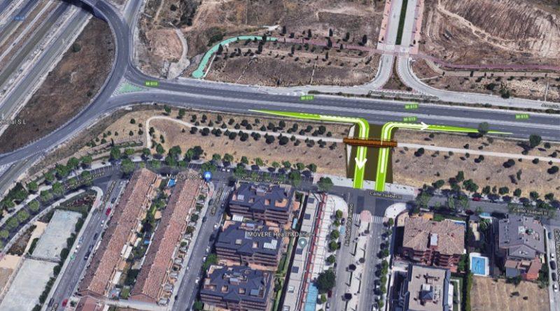Vista aérea de la calle Isabel de Farnesio y la M-513 de Boadilla