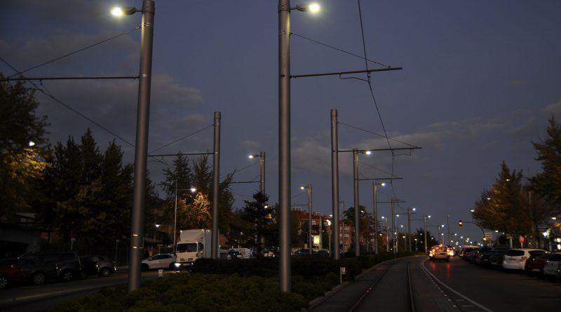 Teleboadilla. Iluminación Metro Ligero en Boadilla