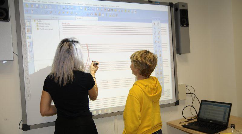 Teleboadilla. Pizarras digitales en la Escuela de Música de Boadilla del Monte