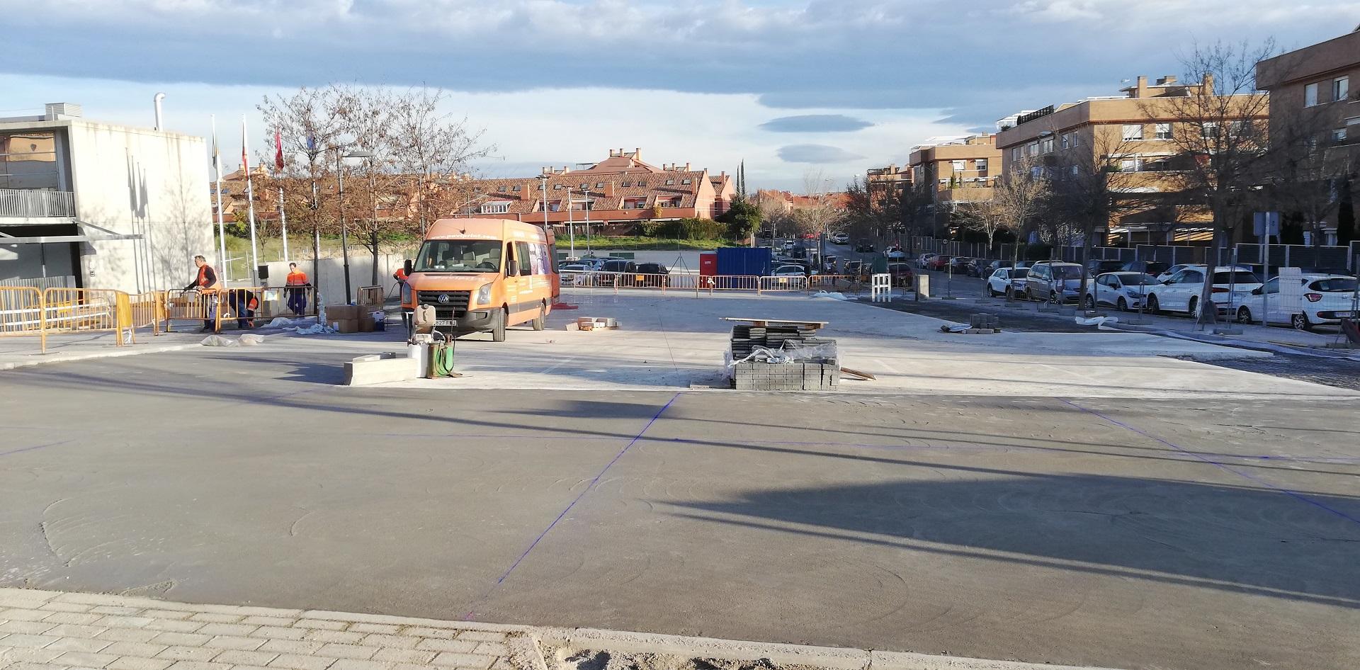 Teleboadilla. Obras de aparcamiento del Centro de Salud Infante Don Luis De Borbóny Centro de Mayores de la calle Secundino Suazo,