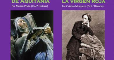 """Teleboadilla. Dos Mujeres en la Historia. Conferencias sobre Leonor de Aquitania y Louis Miche, la """"Virgen Roja"""""""