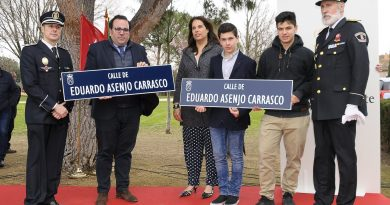 Teleboadilla. Inaugurada la calle Eduardo Asenjo Carrasco, policía local fallecido en 2008 mientras prestaba servicio