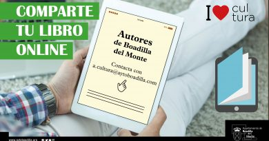 Teleboadilla. El Ayuntamiento ofrece a los escritores locales un espacio en la web municipal para compartir sus libros mientras dure el confinamiento