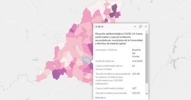 Teleboadilla. Mapa coronavirus 9-4-2020