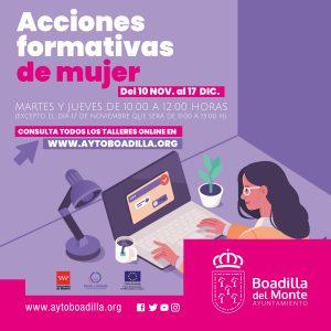 Teleboadilla. La concejalía de la Mujer organiza nuevos talleres online sobre emprendimiento y gestión de la incertidumbre en tiempos de COVID