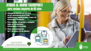 Teleboadilla. Ayuda económica en el abono transporte para los mayores