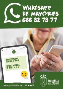 Teleboadilla. Servicio de Atención al Mayor a través de Whatsapp