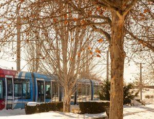 Teleboadilla. Metro ligero por Boadilla del Monte después de la nevada del siglo