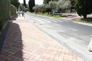 Visita obras nuevo acerado en Monte Olivar