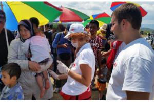 Refugiados sirios en acogida en familias de boadilla