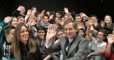 Antonio González Terol con los alumnos del Máximo Trueba