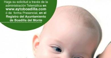 Ayudas por nacimiento, adopción y manutención en Boadilla del Monte