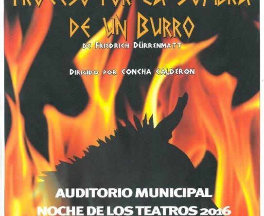Noche teatros Comunidad de Madrid. Proceso por la sombra de un burro