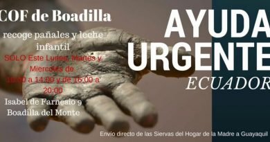 Ayuda urgente por el terremoto de Ecuador