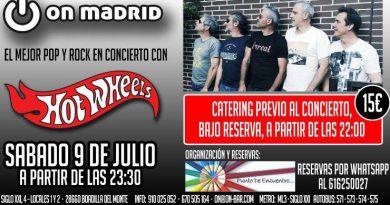 Concierto en On Madrid. Sábado 9