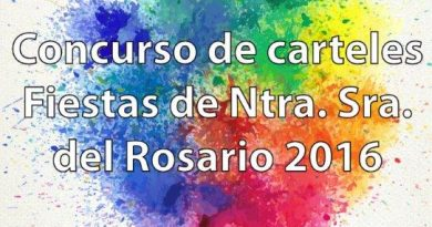 Concurso diseño del cartel de las fiestas patronales Nuestra Señora del Rosario 2016