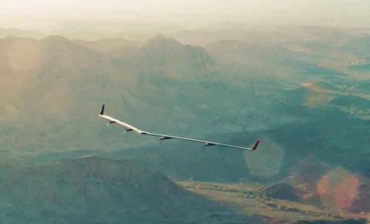 Prueba de vuelo del dron Aquila de Facebook