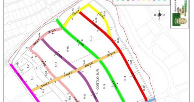 Plano Propuesta calles Cortijo Sur